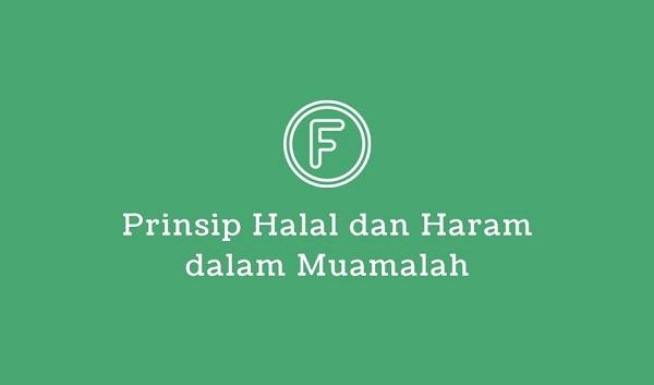 prinsip halal dan haram